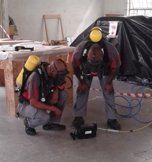 technicians performing fumigation service